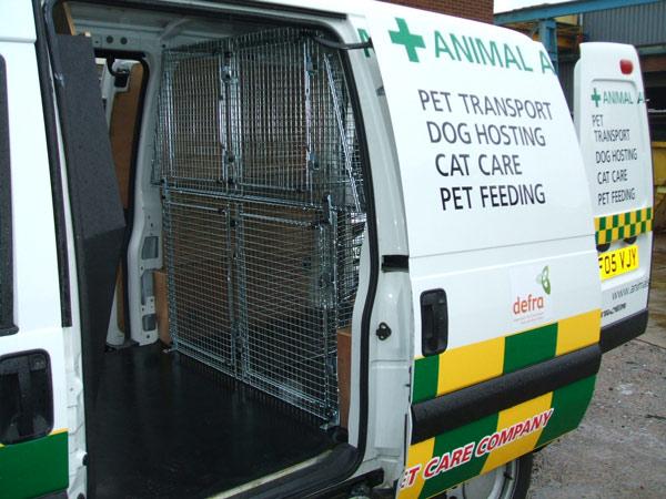 Custom Made Dog Cages For Vans